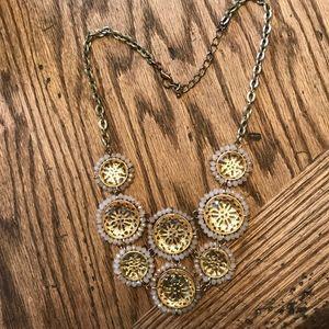 Francesca's Collection Statement Necklace Gold
